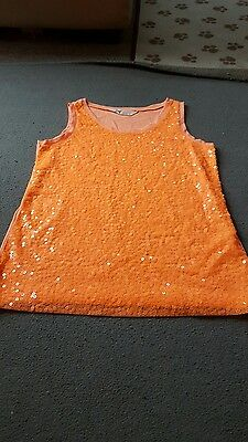 Girls sparkly top age 10-12 years