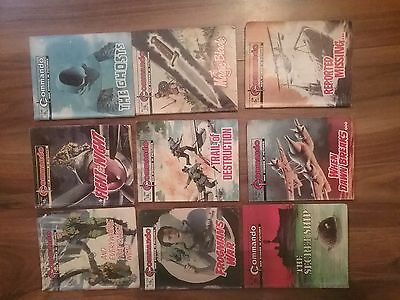9  x COMMANDO COMIC BOOKS...WAR STORIES...POOR CONDITION..
