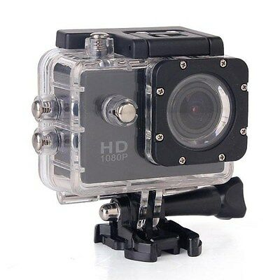 """Full HD 1080p Waterproof Action Camera with 2"""" Screen, plus Accessories"""