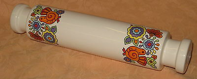 """UNUSED Vintage 1960's Lord Nelson Pottery Gaytime 12"""" Rolling Pin"""