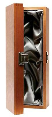 Single Bottle Luxury Wooden Wine/Champagne Hinged Gift Box - Silk Lined