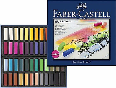 Faber Castell Artists Soft Pastels - Box Set of 48 Assorted Colours
