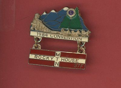 1984 Dist 37F Convention Lions Club Pin - Bag45 Sled Dogs