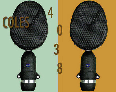 COLES 4038 RIBBON MICS/MATCHED PAIR *NEW* with *free* 4071 Stand Mount Adaptors