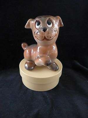 Italian vintage pug-like dog ornament. Disney character?