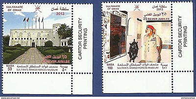 Sultanate Of Oman 2013 Mnh Sultan´s Armed Forces Museum 25Th Silver Jubilee Flag