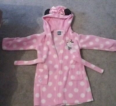 Girls Disney Minnie Mouse dressing gown age 2-3 years