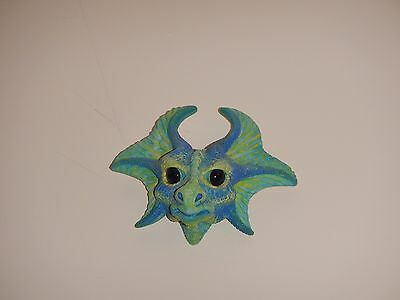 ceramic blue water dragon mythical magical wiccan ornament