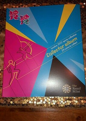 Official Olympic 50p  COIN ALBUM FOLDER Royal Mint Brand New