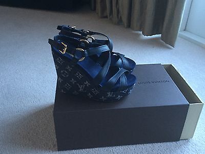 Louis Vuitton Ladies Wedge Sandals Shoes Size 37