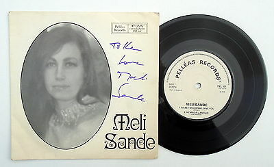 """Meli Sande ~ 4 Track 7"""" EP ~ 1978 Private Press ~ Ronnie / Dave Paisley SIGNED"""
