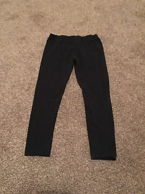 Girls Black Leggings 3-4 Years