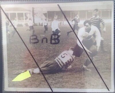 Real Press Photo Woolwich v Sandhurst Richmond 1930s Rugby
