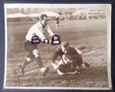 Real Press Photo South Africa v Oxford University 1930s Rugby