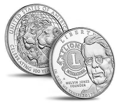 2017-P Lions Clubs International Centennial Proof Silver Dollar PRE-SALE Coin