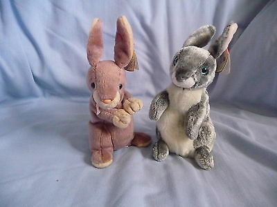 Ty Beanies Soft Toy 'Hopper' & 'Springy' (Rabbit)  6 inch