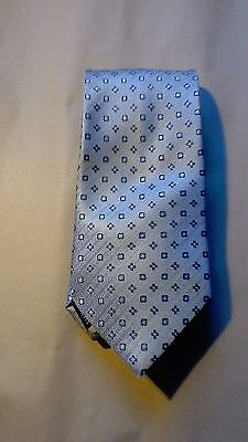 Mens Tie - Marks & Spencer 100% Polyester: Gold with Brown Crests