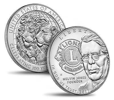 2017-P Lions Clubs International Centennial Uncirculated PRE-SALE Silver Dollar