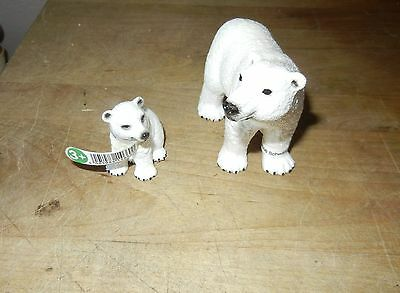 New Schleich Polar Bear Family Includes: Adult Polar Bear NEW OLD STOCK