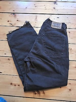 Levi's Vintage Mom Jeans Brown Raw Hem Urban Outfitters 10 12 Grunge 90's