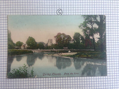 Goring Church From The River Frith's Series Vintage Postcard 1907