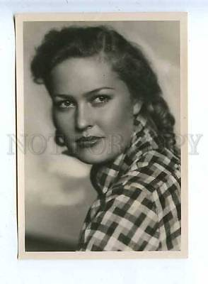 185107 USSR MOVIE STAR USHAKOVA Lenfotohudozhnik 1957 year