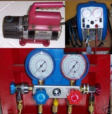 LEARN TO USE A/C EQUIPMENT-  EVACUATION PUMP R12 R134a 134 AIR CONDITION on DVD