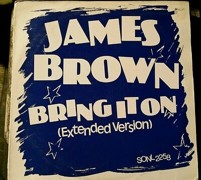 "James Brown - Bring It On 12"" Single Vinyl Extended Mix 1990s Soul"