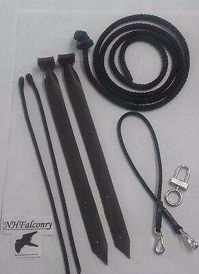 Falconry Set Jesses Leash Swivel Safety Clip & More *10/10 For Quality*
