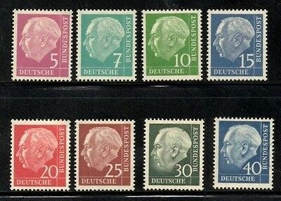 (Ref-8972) Germany 1954-57 President Heuss Selection Mint (Hinged)