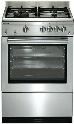 Euromaid - 60cm Upight Cooker, Stainless Steel GEGFS60