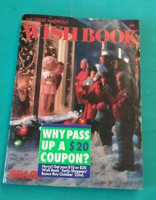 1990 Sears Roebuck & Company Christmas  Wish book Catalog Good Condition