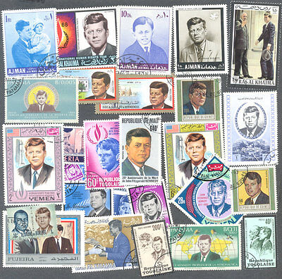 President Kennedy 100 all different  stamp collection