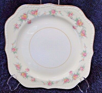 "Homer Laughlin Eggshell Georgian Countess Square Salad Plate 8"" EXCELLENT!"