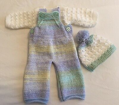 Hand Knitted Doll Clothes To Fit Size 16-18 In Doll