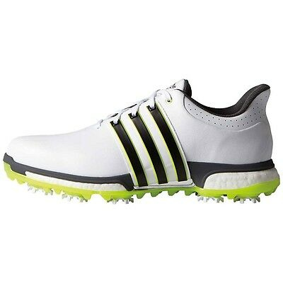 New Men'S Adidas Tour 360 Boost Golf Shoes White/yellow F33251- Pick A Size