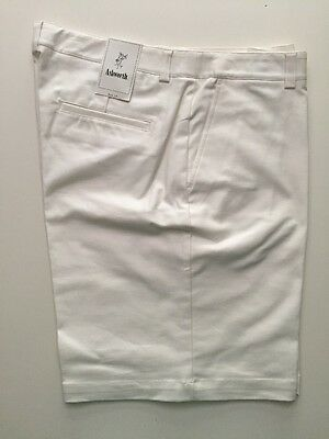 Ashworth Ladies Classic Formal Shorts Bright White Clearance WM61082 US-14 UK-18