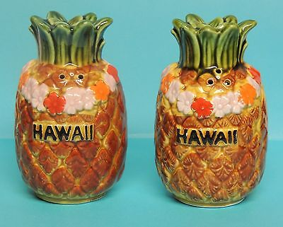 Decorative Salt & Pepper Shakers Pineapples From Hawaii