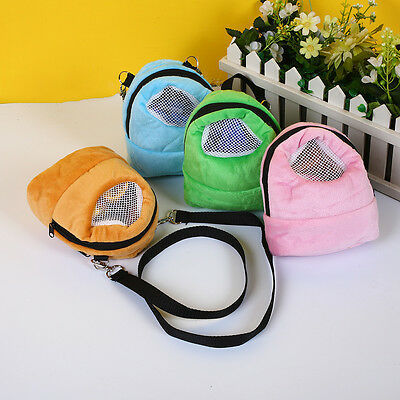 Portable Coral Velvet Small Pet Hamsters Sugar Glider Hedgehog Outdoor Carry Bag