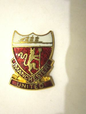 Old Manchester United   Fc  Enamel Football Badge/pin  Coffer