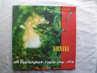 "Nirvana All Apologies  Limited Edition 12"" Vinyl Record With Art Prints"