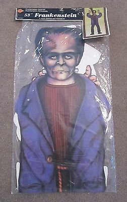 """Frankenstein 53"""" Fully Jointed Hanging Halloween Decoration Package 1980 Beistle"""