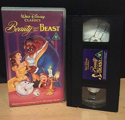 Walt Disney Classics Beauty and the Beast VHS - RARE EDITION 1993 - UK