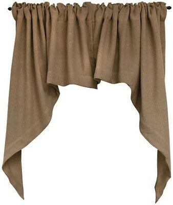 BURLAP SWAG Curtain Window Valance Primitive French Country Farmhouse