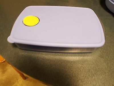 Tupperware Rock N Serve 3 Compartment Divided Microwavable Dish Blue Top