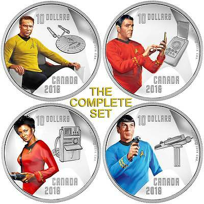 2016 $10 Fine Proof Silver Coin Star Trek: Enterprise Crew Set