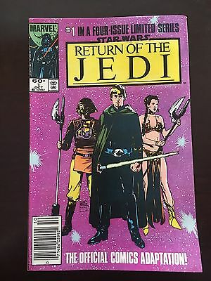 1983 Marvel Comic Complete Lot Of 3 Star Wars Return Of The Jedi