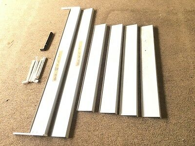 Aluminum Window sill Window Sill Projection 15 cm  SHEET brushed silver x6