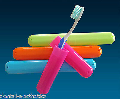 Toothbrush Case Travel Cover ~ Plastic Holder, Store Clean Brushes on Holidays