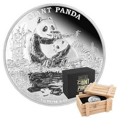 2016 Endangered Species Giant Panda - 1oz Limited Edition Proof Silver Coin